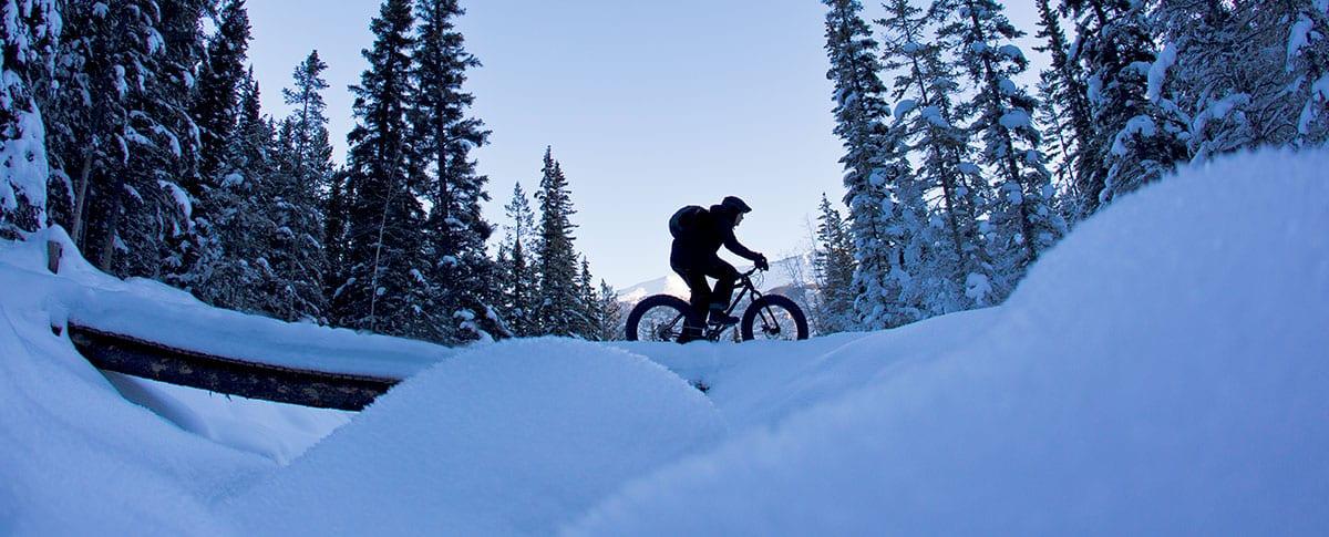 Fat Biking in Maine's Kennebec Valley. Remote trails.